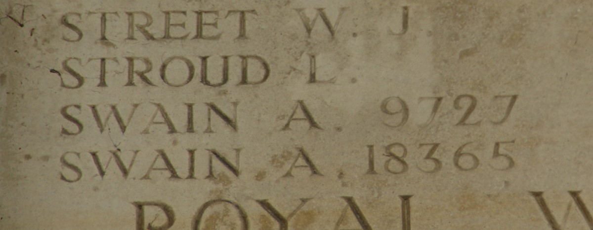 Name on Pleogsteert Memorial