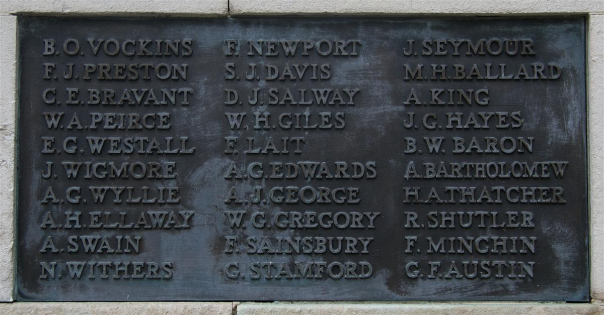 Arthurr's name on Newbury memorial