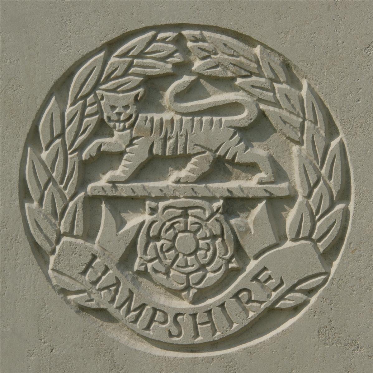 Hampshire Regiment badge