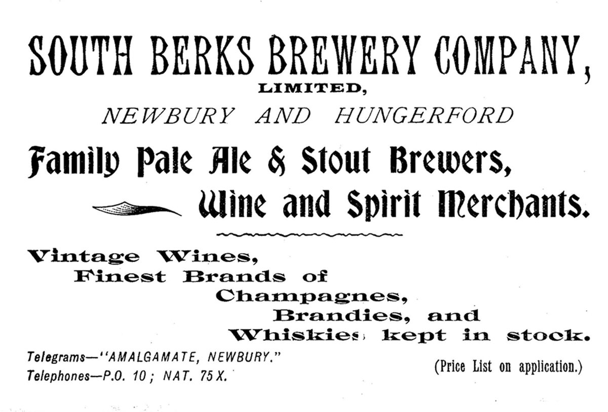South Berks Brewery advertisement.