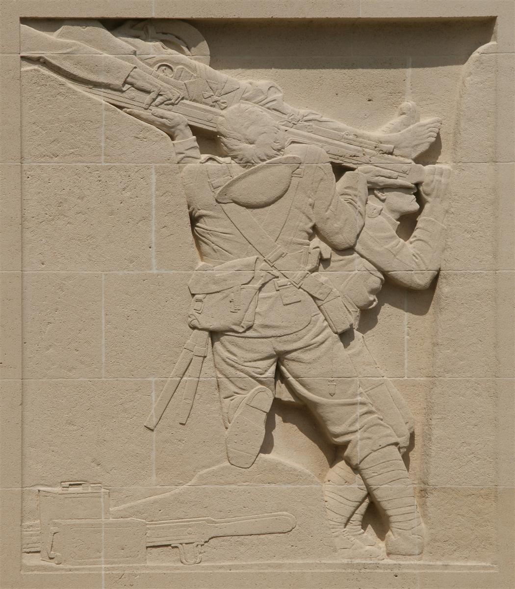 Bas-relief on Cambrai Memorial