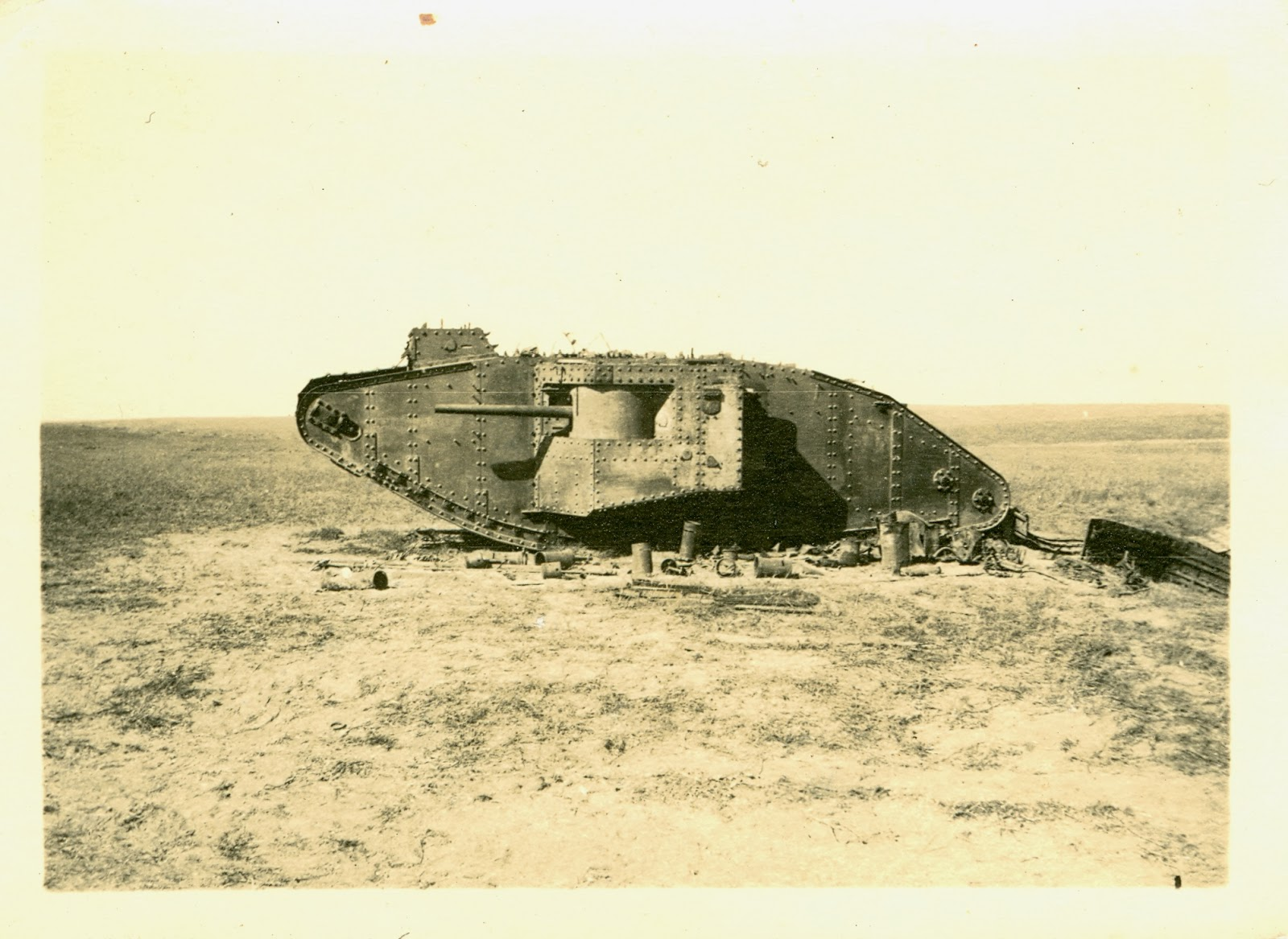 Disabled tank at 3rd Gaza