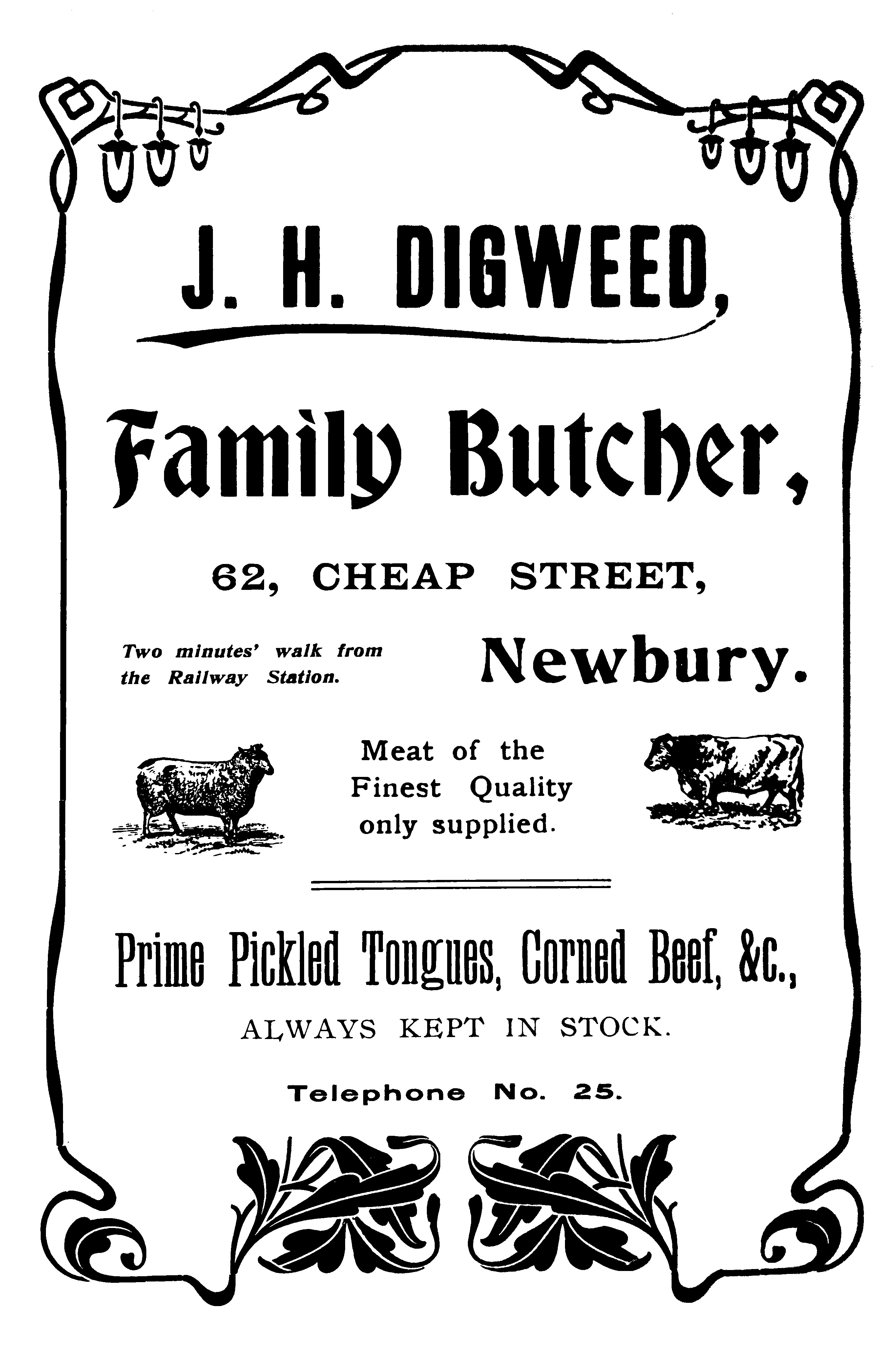 Advertisement for shop