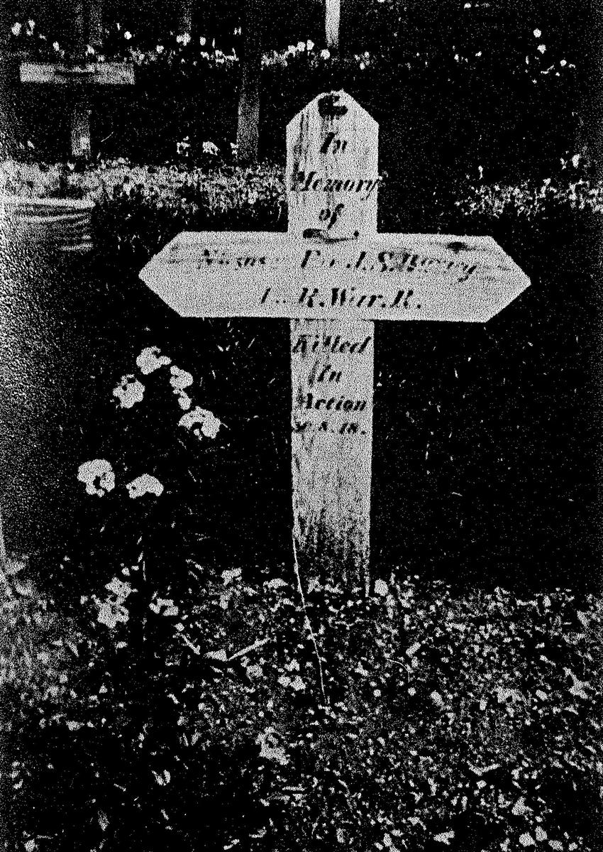 Jesse's grave, photographed by his brother Fred c1927