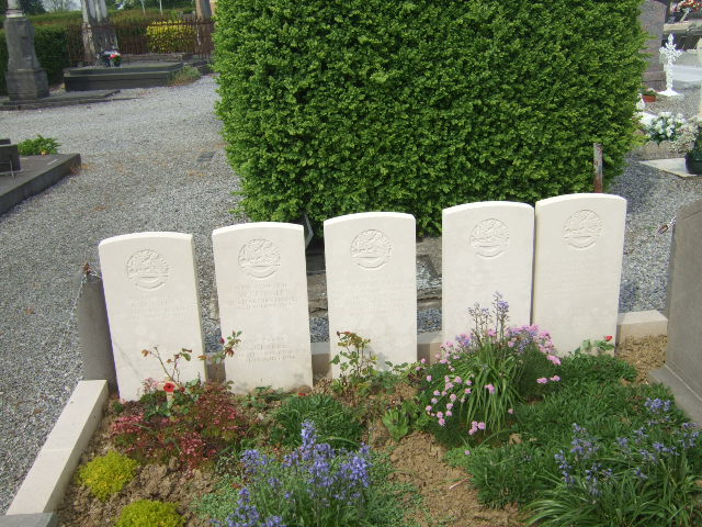 Four of the stones on the mass graves at Maroilles